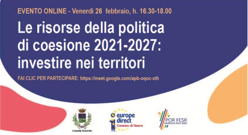 Le risorse della politica di coesione 2021-2027: investire nei territori