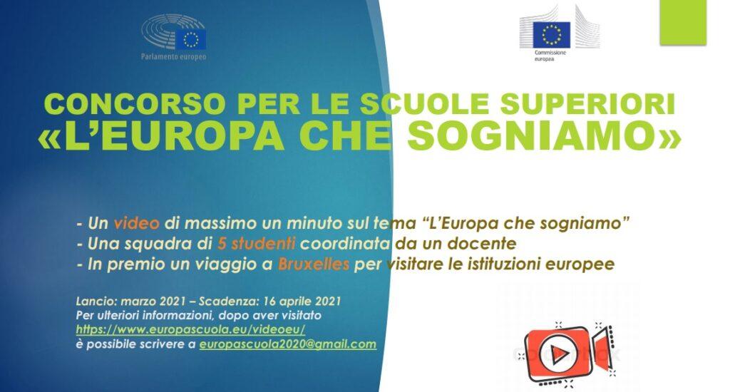"""Al via il concorso per le scuole superiori italiane """"L'Europa che sogniamo"""""""