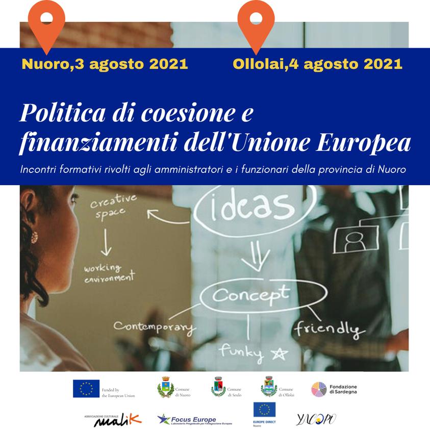 Politica di coesione e finanziamenti dell'Unione europea – Incontri formativi per il progetto Yacopo
